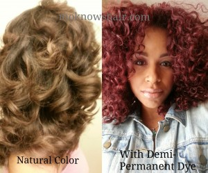 Demi Permanent Dye Application On Natural Hair
