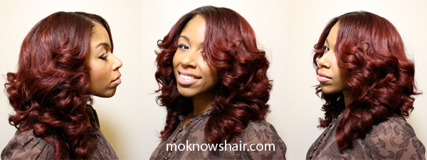 Prev Next Hair Section Off Pieces Use Flat Iron Curl