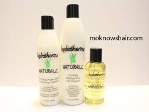 Hydratherma Naturals Moisture Plus Cleanser, Protein Deep Conditioning Treatment and Hair Growth Oil