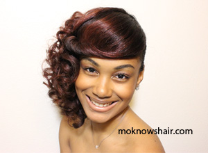 Create A Side Swept Curly Pin Up With A Roller Set On Natural Hair