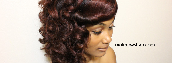 Create a side swept curly pin up with a roller set on natural hair side swept curls feat pantene pro v urmus Gallery
