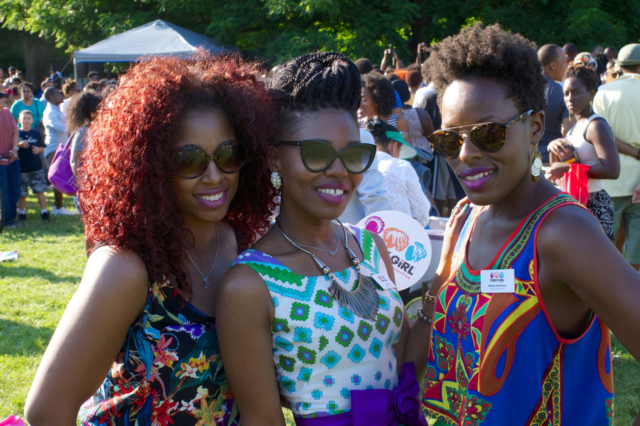 With members of Curly Girl Collective. Photo by Shayne Brooks.