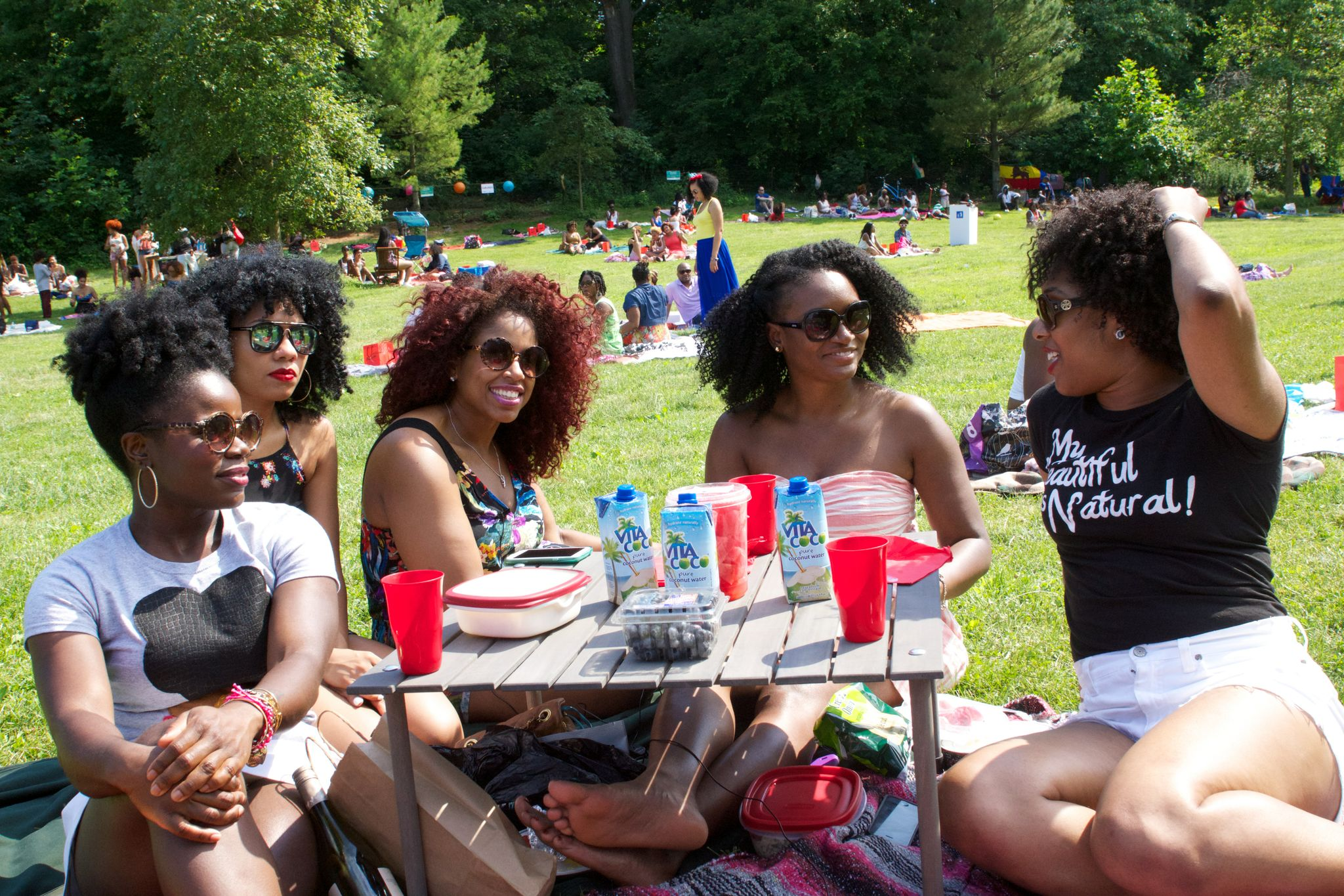 A curly girl conversation. Photo by Shayne Brooks.