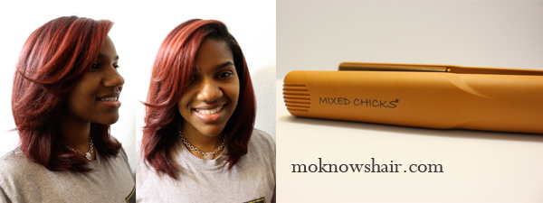 Roller Set Amp Flat Ironing With Mixed Chicks Moknowshair